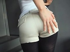 Cute Asian Teen Gives A Mean Footjob Wearing Pantyhose