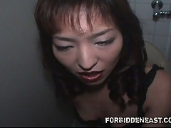 Hot Asian Milf sucking in pov style