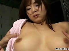 Innocent japanese babe down for nasty threesome
