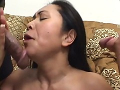 Horny Asian takes two cocks and facials www.porn-21sextury.com