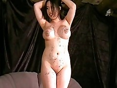 Gameshow punishments for breast whipped asian