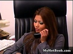 Charmane Star is a gorgeous Asian secretary whos