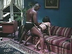 Horny asian slut fucked by thick black dick