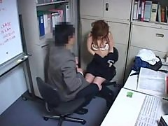 Japanese girl fucked by office mate