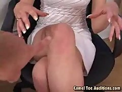 Clara sucking cock for more cum at cameltoe auditions