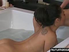 Smoking hot Asa and Victoria wet massage