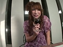 Adorable aya sakuraba turns jello, cumming in solo