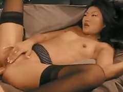 Asian Lucy Lee receives cum shot to face after pounding