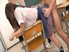 Asian Teen Fucked Doggie At School