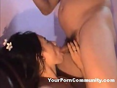 Asian tart sucking and fucking on webcam