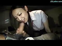 Japanese Girl Gives Him A Blowjob In The Car And Spits Cum In Her Hand