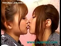Crazy young japanese lesbian girls in bedroom