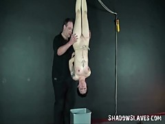 Needle torment of suspended asian slaveslut Mei
