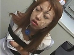Office girl bukkake