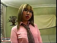 Lusty Asian Chick In Glasses Is Not As Shy As It Seems From The First Sight