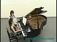 Piano instructor fucks her young student