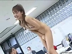 New Japanese female employees play rock p ...