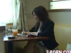 Milf in restaurant and fucked outside in car