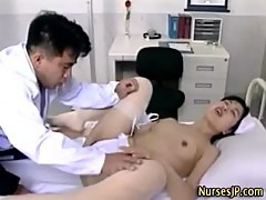 Japanese nurse pussy lick and fingering
