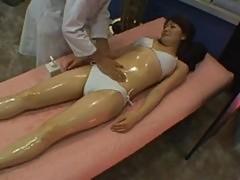 Young model reluctant massage orgasm part 1