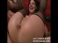 Two whores share his cock and get off