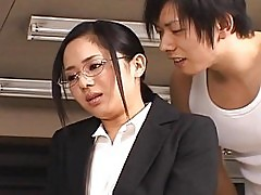 Sora Aoinaughty asian secretary enjoys getting fucked at bre...