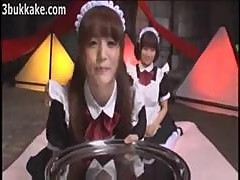 Two Jizz Eating Japanese Teen Maids