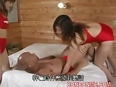 bald man and 2 horny lifeguard make threesome