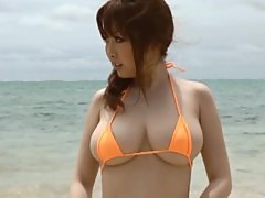 Hot Beach Scene With The Asian Babe Rio Hamasaki Wearing A Two Piece