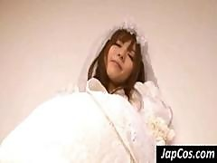 Japanese Bride Shows Off Her Ass And Gets It And Her Pussy Fingered And Vibrated
