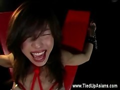 Bonded asian whore gets binding treatment