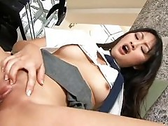 Horny Asian schoolgirl Evelyn Lin