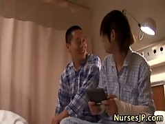 Deep throat asian nurse
