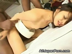 Blacks Gangbang Japanese!