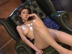 Extremely Horny Asian MILF Julia Gets Gangbanged and Covered in Cum